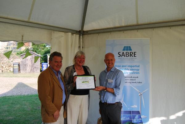 Award at the Suffolk Carbon Charter Summer Garden Party which was held at Woolley, Freckenham