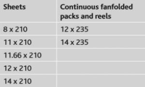 pressure seal sizes